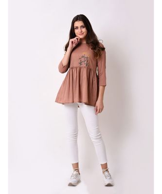Women's Dobby Embroidered Tunic
