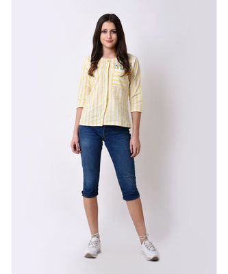 Women's Button Down Embroidered Top