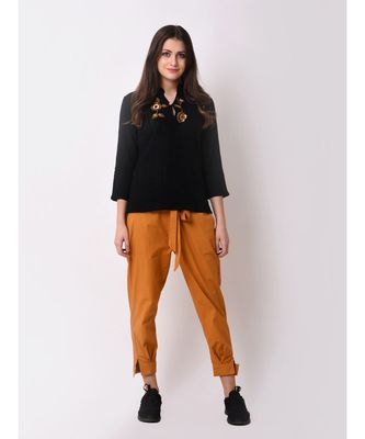 Women's Textured Embroidered Top