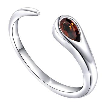 Maroon cubic zirconia rings