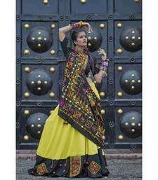 Black embroidered cotton unstitched lehenga choli
