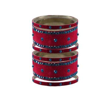 Rani Stone Stud Brass Bangle