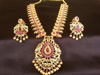 Pink ruby   south-indian-jewellery