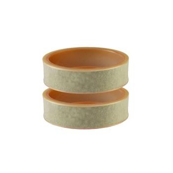 Cream Plain Acrylic Bangle