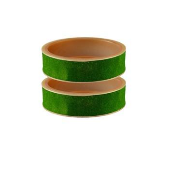 Green Plain Acrylic Bangle
