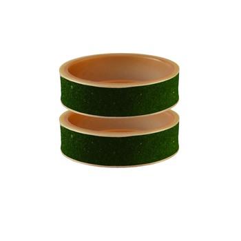 Dark Green Plain Acrylic Bangle