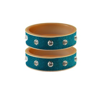 Firozi Stone Stud Acrylic Bangle