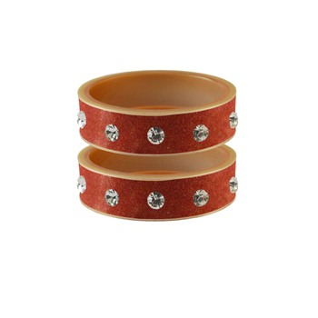 Peach Stone Stud Acrylic Bangle