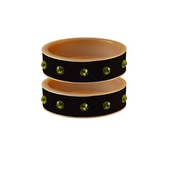 Black Stone Stud Acrylic Bangle