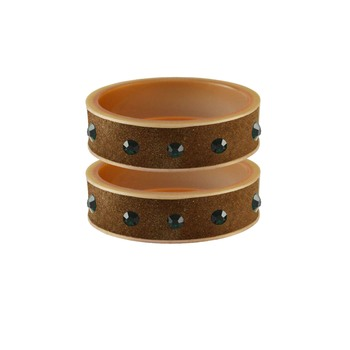 Dark Brown Stone Stud Acrylic Bangle