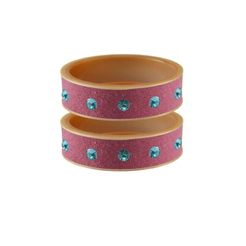 Dark pink Stone Stud Acrylic Bangle