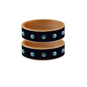 Dark Blue Stone Stud Acrylic Bangle