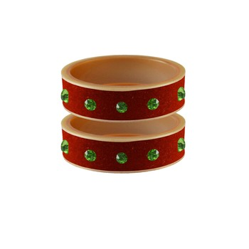 Orange Stone Stud Acrylic Bangle