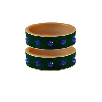 Green Stone Stud Acrylic Bangle