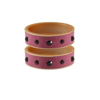 Dark Pink Plain Acrylic Bangle