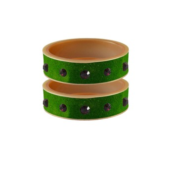 Green Plain Acrylic Bangle
