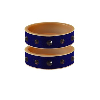 Blue Plain Acrylic Bangle