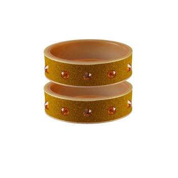 Light Brown  Stone Stud Acrylic Bangle