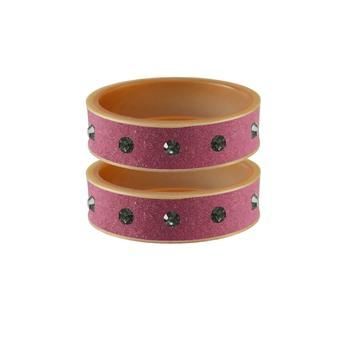 Dark Pink Stone Stud Acrylic Bangle