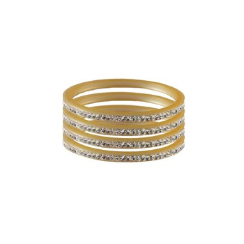 White Stone Stud Acrylic Bangle