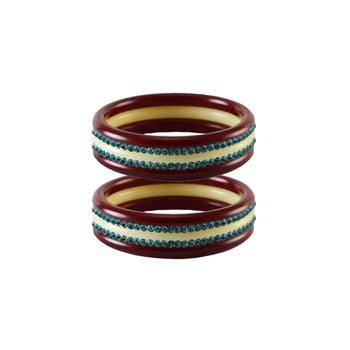 Firozi Stone Stud Acrylic Bangle