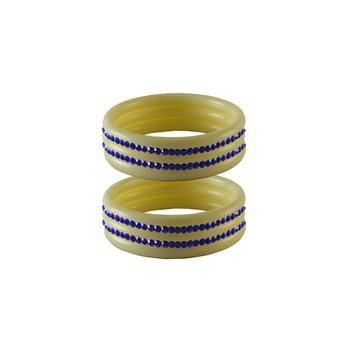 Blue Stone Stud Acrylic Bangle