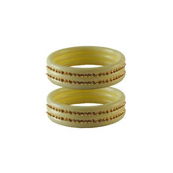Golden Stone Stud Acrylic Bangle