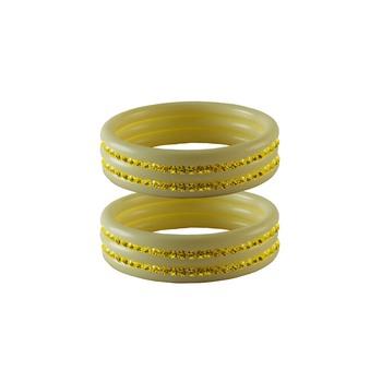 Yellow Stone Stud Acrylic Bangle
