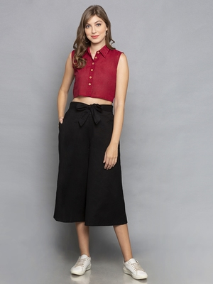 Black Culottes with belt