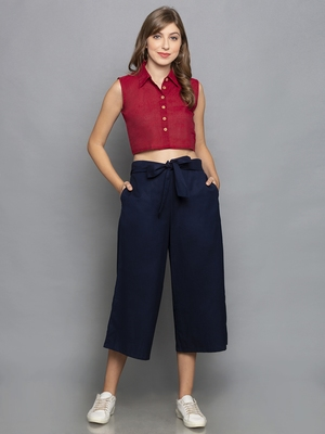 Navy BlueCulottes with belt