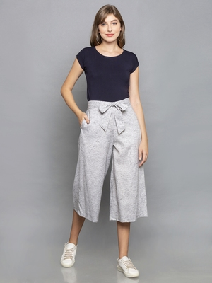 Light Grey Culottes with belt