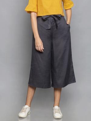 Dark Grey Culottes with belt