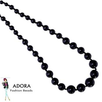 Black onyx plain Round Necklace