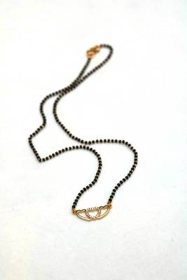 Beautiful heart shaped stone studded single mangalsutra