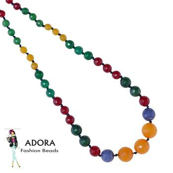 Multi fac Round Necklace