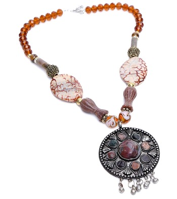 Multi-colored Designer Beaded Necklace ACNX3