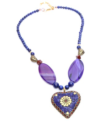 Multi-colored Designer Beaded Necklace ACNX52
