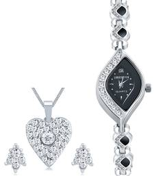 Silver diamond watches