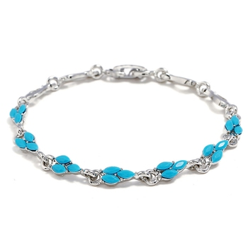Blue cubic zirconia bangles-and-bracelets