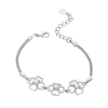 Silver crystal bangles-and-bracelets
