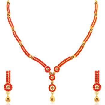 Multicolor crystal necklace-sets
