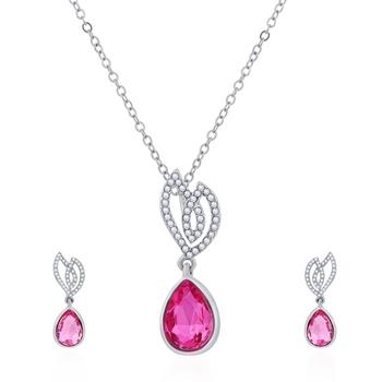 Pink crystal pendants