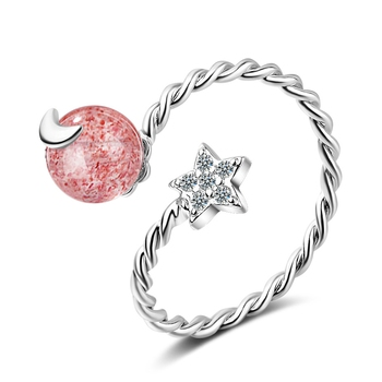Pink cubic zirconia rings
