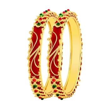 Gold bangles-and-bracelets