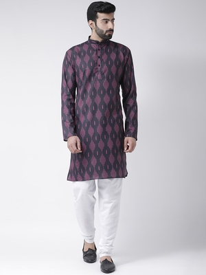 multicolor printed Cotton stitched kurta pajama