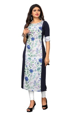 White Color Heavy American Crepe  Stitched Kurti