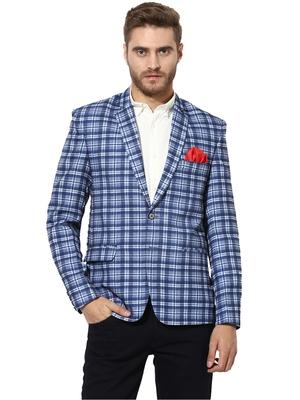 multicolor plain blended_cotton stitched men-blazers