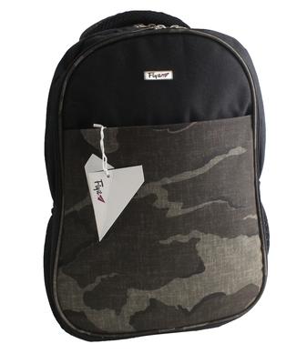 Grey & Black Polyester school bag