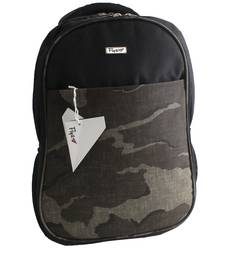 Grey & Black Polyester school bag