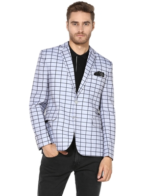 multicolor plain blended_cotton stitched men-blazers